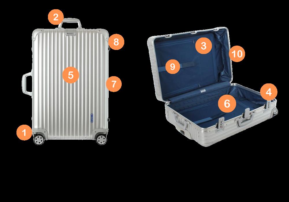 スーツケース修理項目