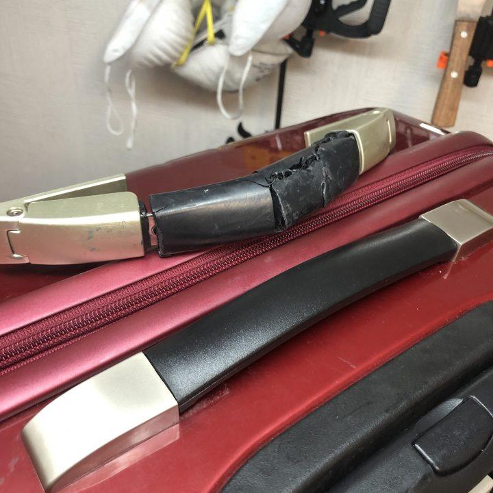エース スーツケース修理 ハンドル修理